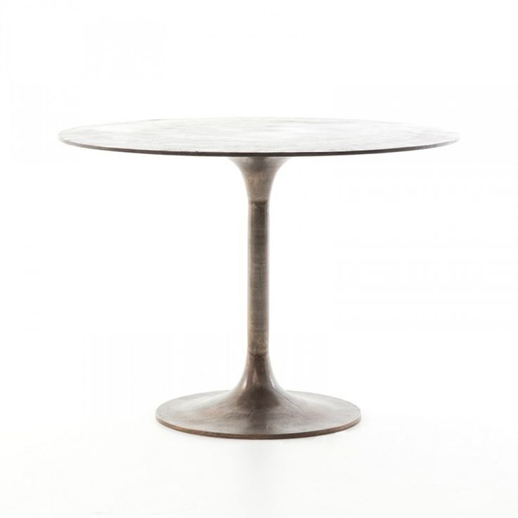 Classic Tulip Shaping In Textural Cast Aluminum Makes For A Modern Bistro  Table. Finished In Antique Rust To Bring Out Alluring Highs And Lows.