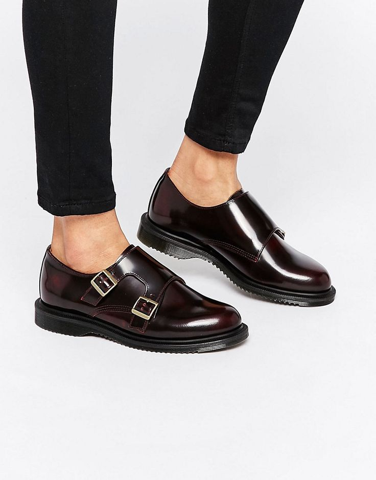 Image 1 of Dr Martens Pandora Double Monk Stap Flat Shoes