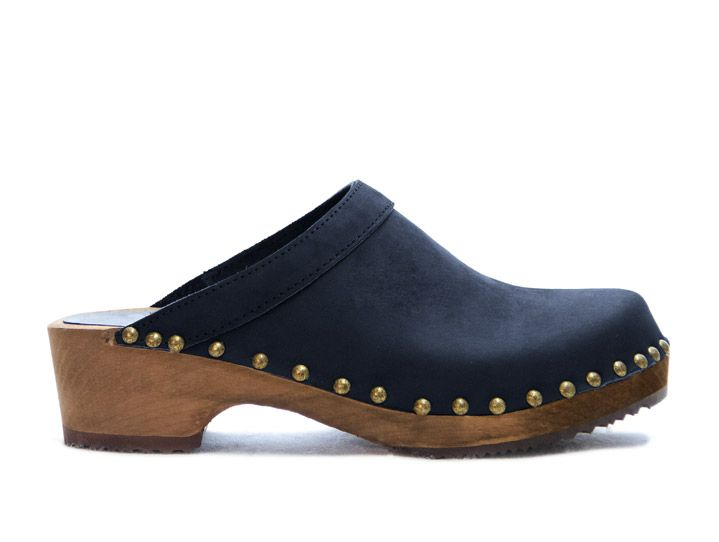 SS15 - Athens in Navy Sandgrens Swedish clogs