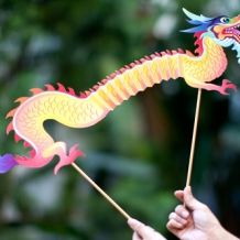 Chinese New Year Dragon Puppet - 30 Chinese New Year Crafts from Spoonful