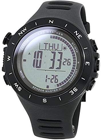 [LAD WEATHER]Sensor suizo 100 metros impermeable Altímetro Barómetro Brújula digital Pronóstico del tiempo Paso Montaña Hombre Relojes de pulsera