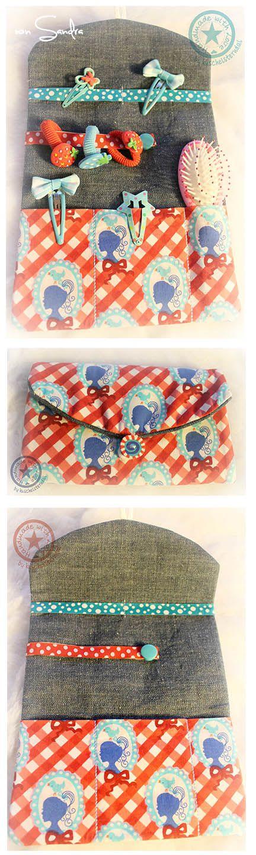 Der Stickbär   Designbeispiel: Haarspangentasche 18x30