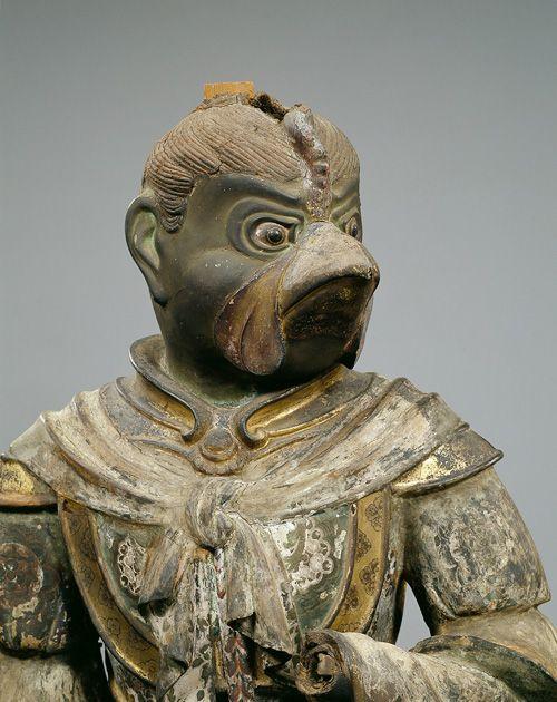 国宝 迦楼羅(かるら)立像  脱活乾漆造(だっかつかんしつづくり)、彩色 奈良時代 天平6年(734) 奈良・興福寺蔵