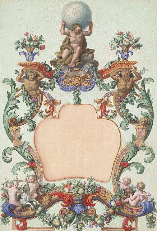 Ottmar Elliger, III (1666 - 1735) — Cartouche, 1729-1735 (505X745)