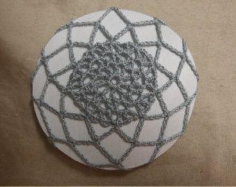 Crochet accessorio capelli grigio argento panino coperchio snood