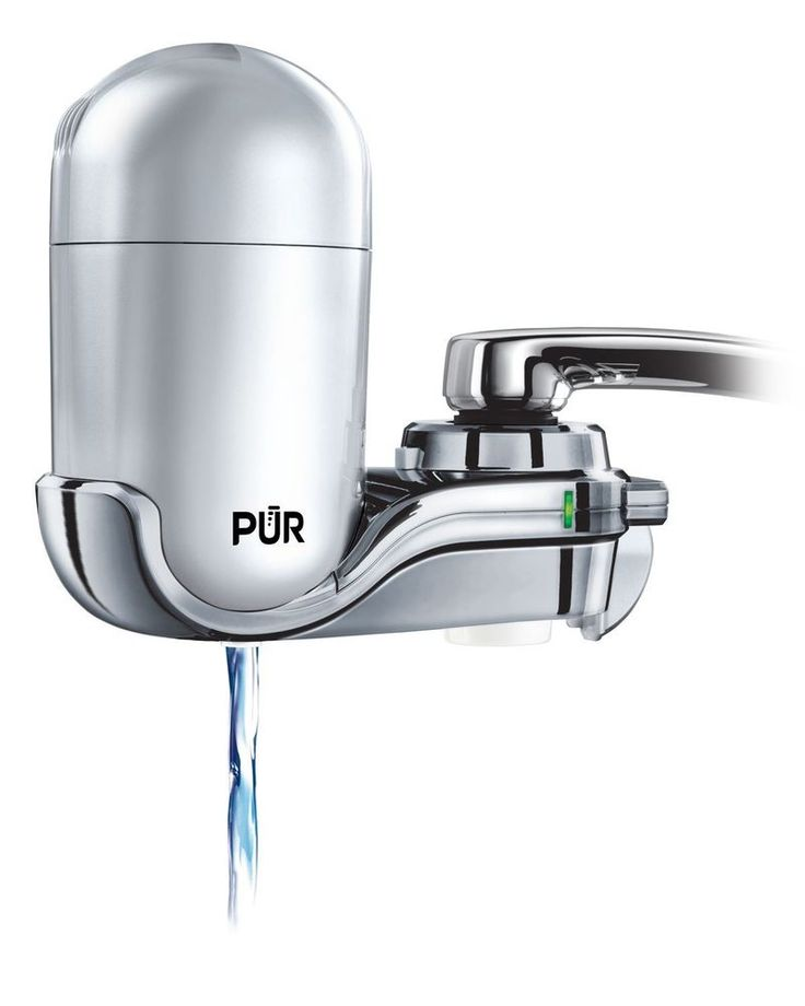 PUR FM-4100B 3-Stage Vertical Faucet Water Filter System, Gray & Chrome #PUR