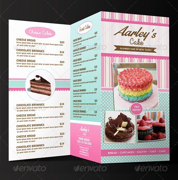Fresh Bakery Menu Template Free In 2020 With Images Bakery