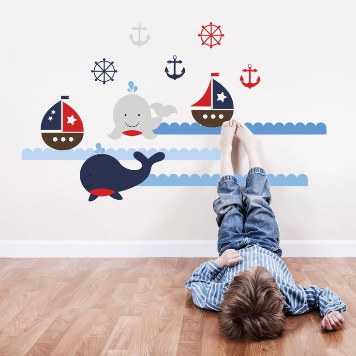 Housedecor Samolepka na stenu Veľryby a lode