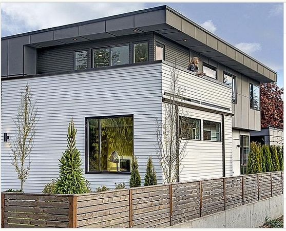 Modern Home White Cladding With Grey Materials Home Exteriors Pinterest Grey And Modern