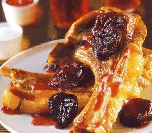 Χοιρινό μπριζολίκι με κόκκινο κρασί και πετιμέζι The recipe is in Greek.