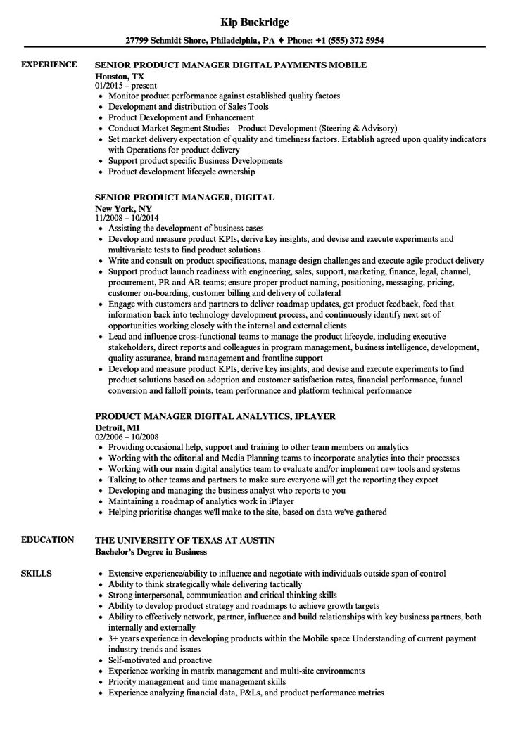 Product Manager Resume Example Superb Product Manager