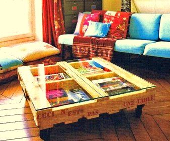 mesa ratona de pallets: Coffee Tables, Ideas, Wooden Pallets, Pallets Furniture, Savory Recipes, Coff Tables, Pallets Tables, Old Pallets, Pallets Projects
