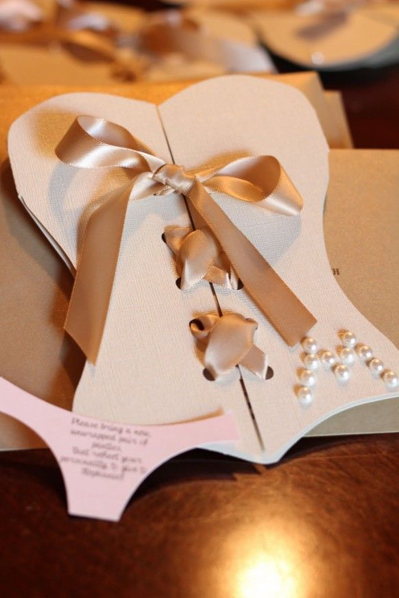 bridal shower invitation ideas craft%0A simply living  Steph u    s pink and gold lingerie showerCute idea