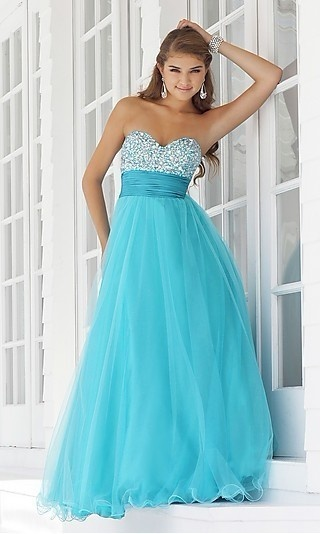 Blue and jeweled dress so pretty