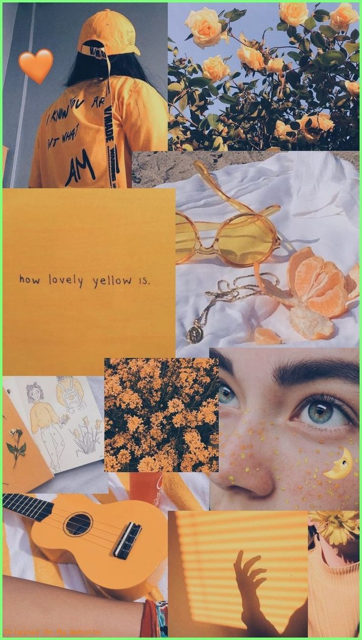 Wallpaper Backgrounds Aesthetic – Yellow mode 🌻…