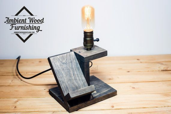 Micro Utility Station Lamp With Electronic Docking от AmbientWood