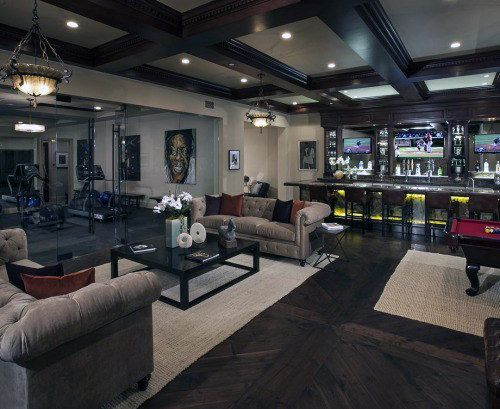 Incredible Luxury Basement With Indoor Private Gym Glass Walls   Tap The  Pin If You Love