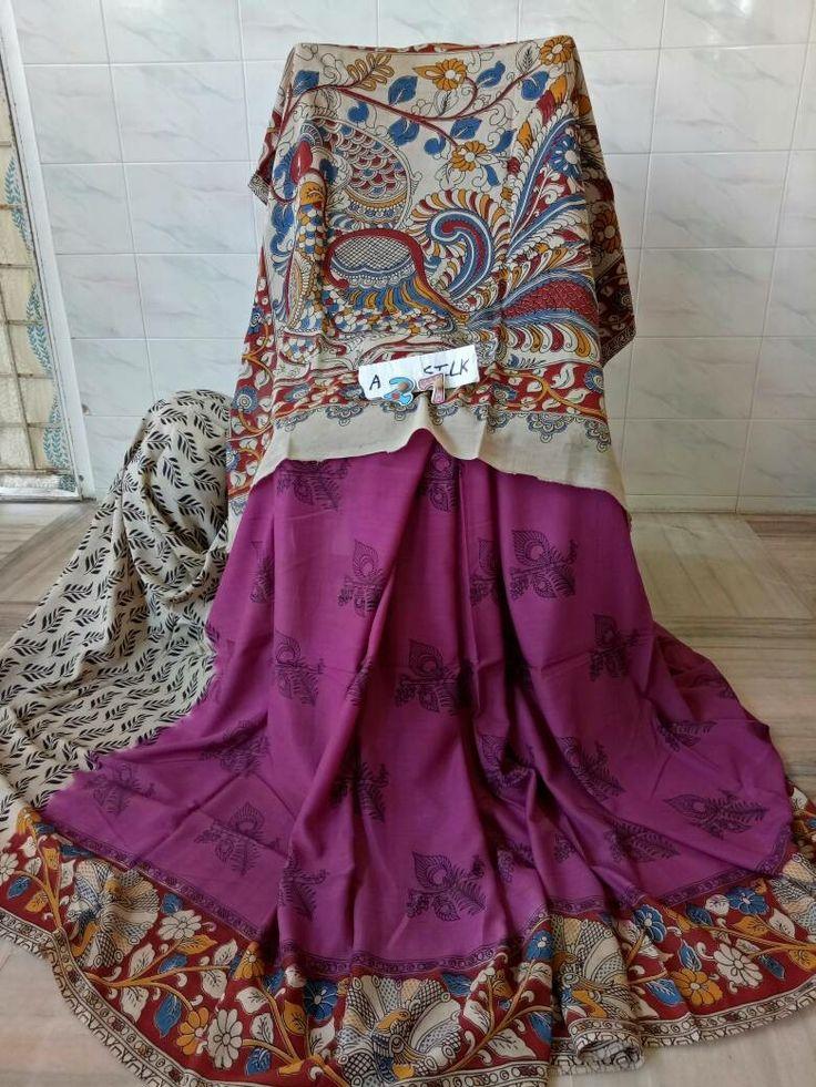 Kalamkari khadi Silk Sarees INR - 1850/-  Order now @8898889404   #indianfashion #femme #womensfashion #ethnic #elegant #shoponline #alankritaweboutique