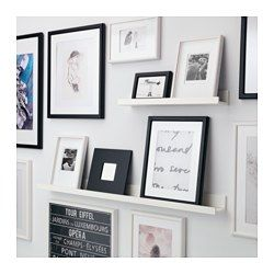 IKEA - MOSSLANDA, Picture ledge, 115 cm, , The picture ledge has a special groove to keep smaller frames at the perfect angle.The picture ledge makes it easy to vary your favourite motifs as often as you like.