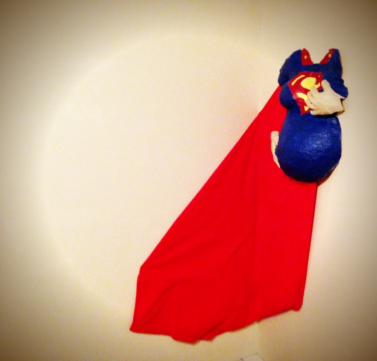Superhero nursery belly cast. Not all the theme for our girl, but too cute not to pin :)