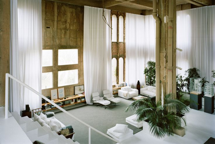 Built by Ricardo Bofill in Sant Just Desvern, Spain In 1973 Ricardo Bofill found a disused cement factory, an industrial complex from the turn of the century consisting ...