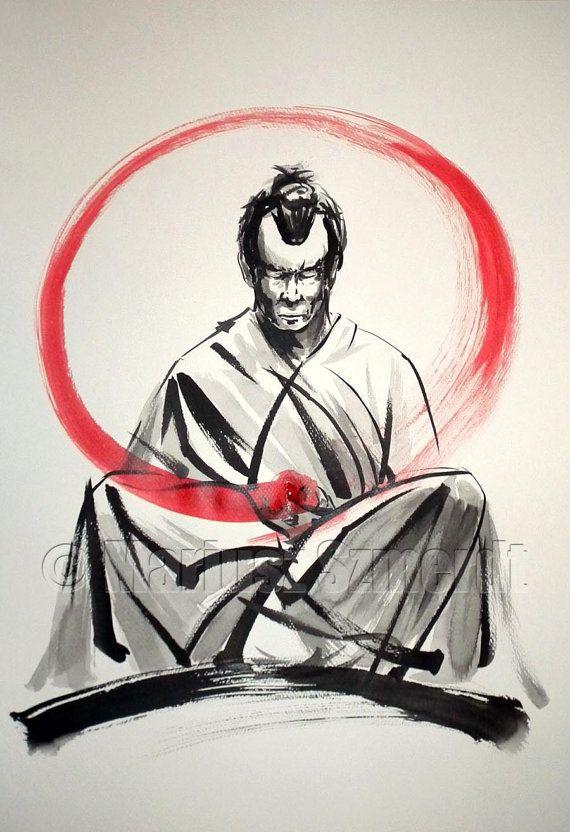 JAPANESE CULTURE PAINTINGS FOR SALE SAMURAI BUSHIDO GEISHA by SamuraiArt https://www.etsy.com/shop/SamuraiArt