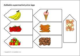 kaartjes voor de supermarkt om te printen