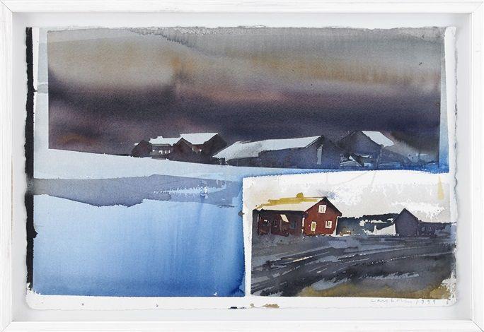 Bebyggelse i Värmland by Lars Lerin