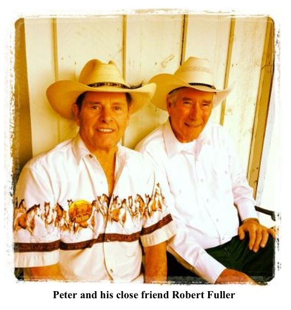 Peter Brown and Robert Fuller after Breakfast with the Stars, Western Legends Roundup, Kanab, Utah, 2012