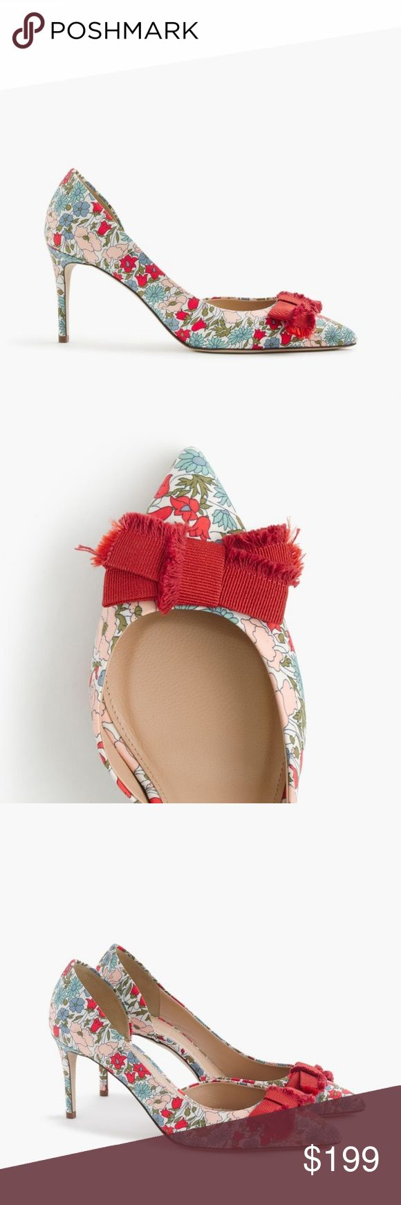 "HOST PICK*J Crew Colette poppy & daisy floral pump **MARKED DOWN**PRICE FIRM! Even now ""on sale"" for $189 at J Crew. No offers accepted. A new take on an always-classic mid heel. This pattern is from Liberty Art Fabrics. A mix of teeny daisies, poppies and bell flowers are just as fun now as they were back then. Cotton upper. Leather lining. Man-made sole. Made in Italy. Brand new in box, never even tried on, size 10. Heel is approximately 3"". Bought directly from J.Crew, no outlets. J. Crew…"