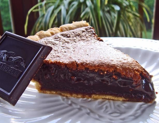 Chocolate Chess Pie from Food.com:   								Very rich, chocolaty and delicious!