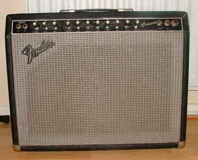 "This is my Fender concert valve amp. 50 Watts of awesome valve power driven into a single 12"" speaker. Twin channels controlled by a foot switch. I am lead to believe that the black fronted versions are a little unusual. A fantastic sounding guitar amp."