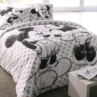 gt linge de lit gt parure housse de couette mickey amp minnie parure de lit pinterest. Black Bedroom Furniture Sets. Home Design Ideas
