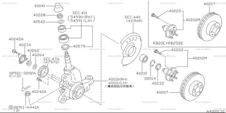 400 - front axle (chassis) на Skyline HR33 Ниссан Скайлайн - Запчасти