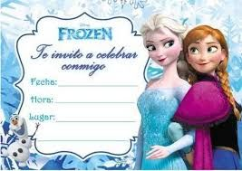 Resultado de imagen para invitación cumpleaños frozen