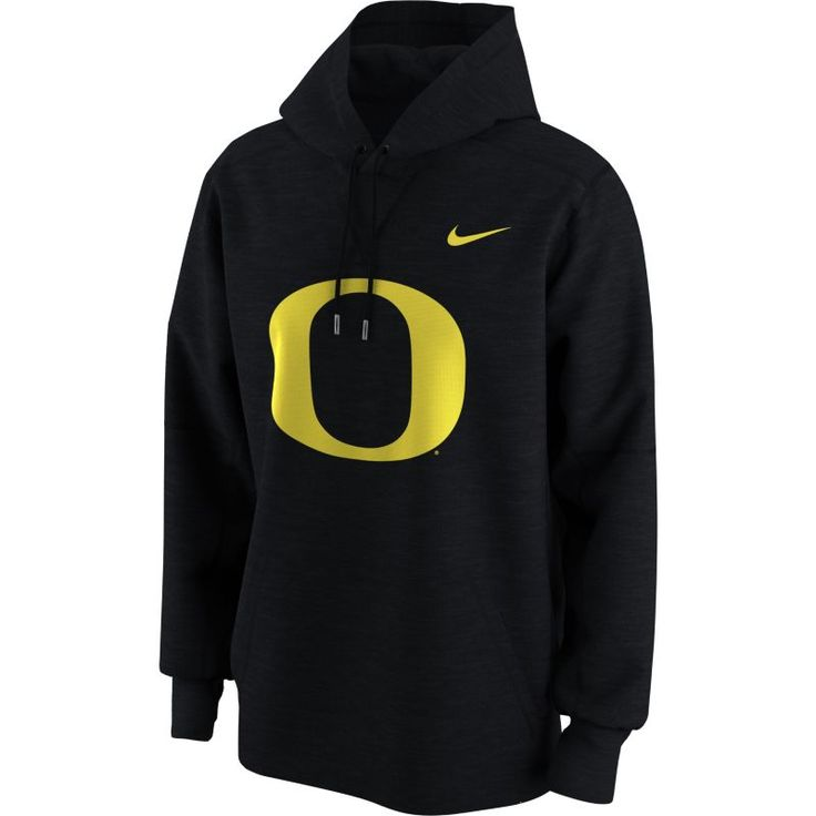 Nike Men's Oregon Ducks Black Primary Logo Fleece Hoodie, Size: Medium, Team