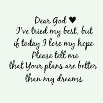 Hope now in God.