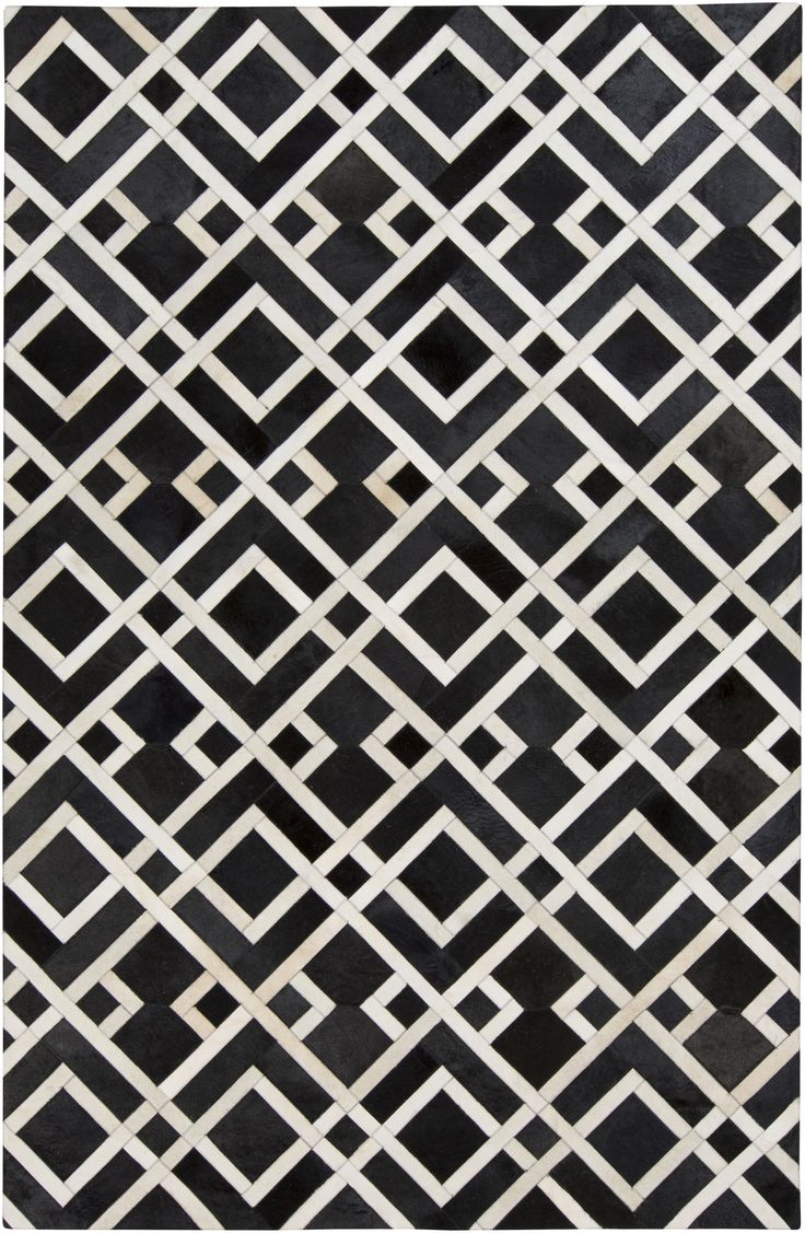 In a bold, contrasting geometric design, this hair on hide collection pushes the boundaries of leather construction (Trail TRL-1130).