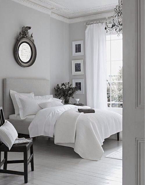 Like the wall color and the bedding