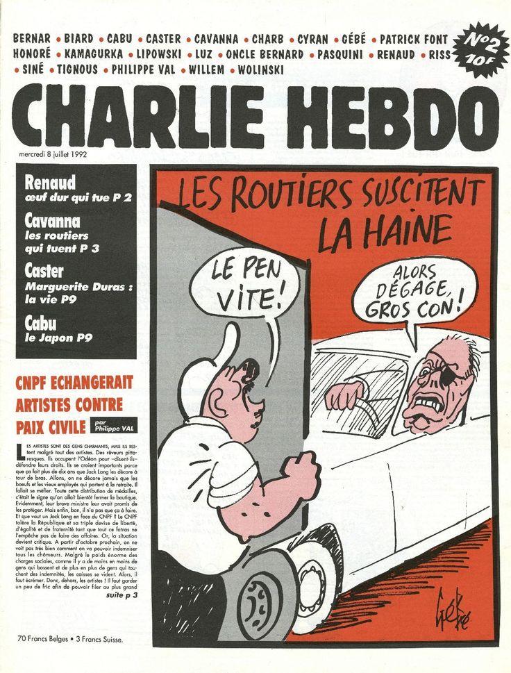 Charlie Hebdo - # 2 - 8 Juillet 1992 - Couverture : Gébé