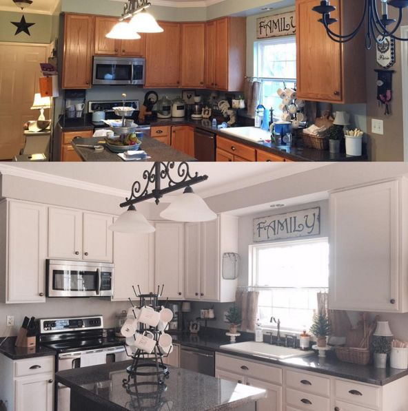 Cost Of Painting Kitchen Cabinets White: Cabinet Paint Color: China White By Benjamin Moore Walls