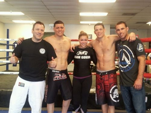 Ronda Rousey, training w/ Nick & Nate Diaz