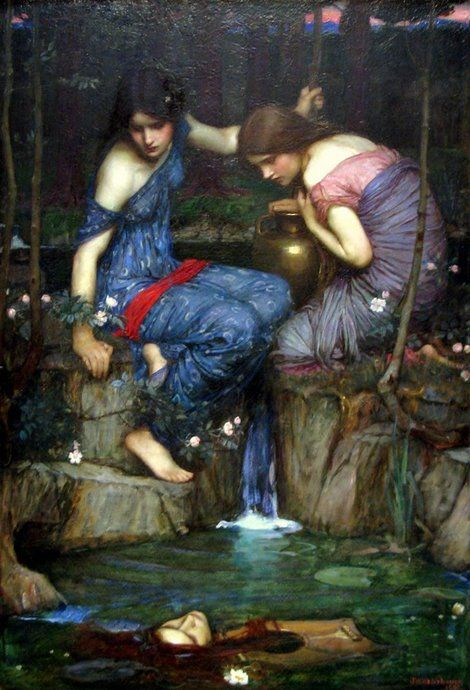 John William Waterhouse, Nymphs finding the Head of Orpheus, 1900