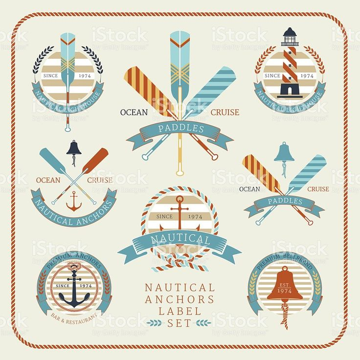Nautical anchors label  set 02 royalty-free stock vector art