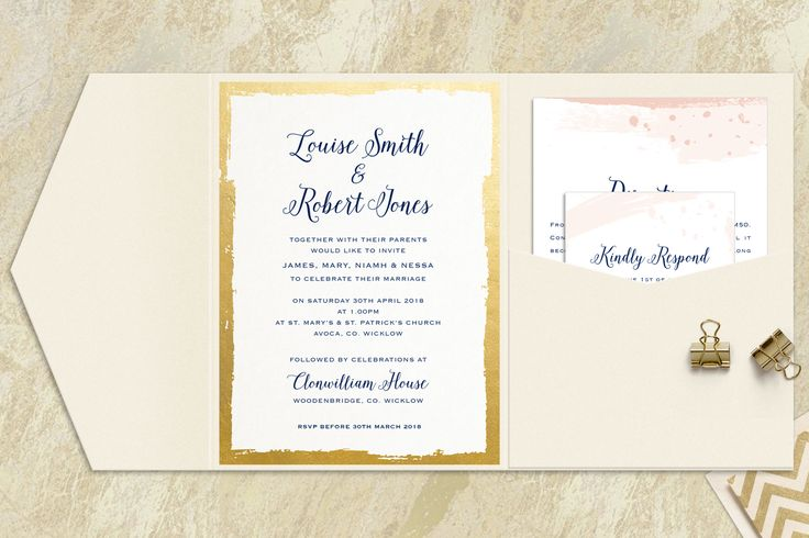 Brush Stroke Wedding Invitations for Appleberry Press Signature Range