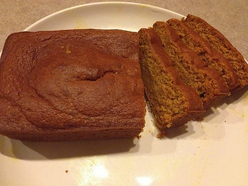 The MOST delicious pumpkin bread ever! Made with Libby's Pumpkin! Less than 1 cup sugar! Our family's fave!