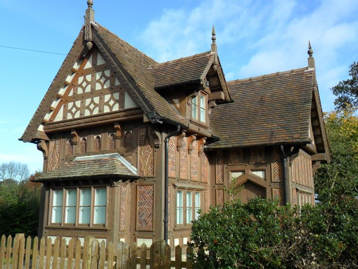 Ornately detailed gingerbread style cottage, Rocester, Staffordshire . England.
