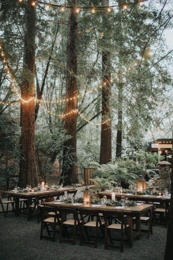 20 Woodland & Forest Wedding Reception Ideas