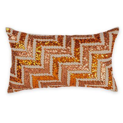 30x50cm Cusco Sequin cushion Orange