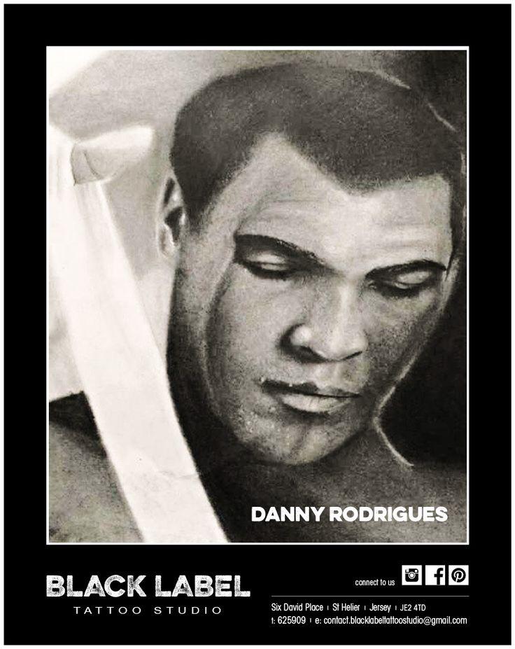 "Black Label Tattoo Studio | Artist: Danny Rodrigues ""Muhammad Ali"" | Pencil Drawing, Sketch, Portrait"